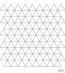 Small Picture Tessellation with Triangle coloring page Free Printable Coloring
