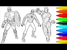 Avengers Infinity War Captain America Avengers Coloring Book