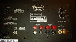 klipsch 10 subwoofer. nearly brand new. sell $250 cash (was 400 new a few months ago ) or trades for firearms between 300-400 trade value. thanks klipsch 10 subwoofer