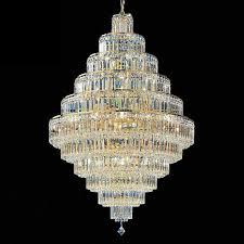 multi tier crystal chandelier pendant