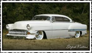 STYLISH KUSTOMS: 1954 Chevy Chopped Hardtop Kustom
