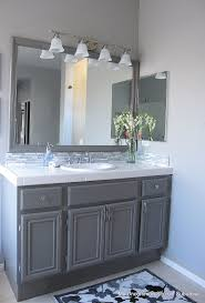 bathroom cabinets. How To Paint Oak Cabinets | My Uncommon Slice Of Suburbia-- If We Decide Go The Cheap Route And Just Kitchen. Bathroom