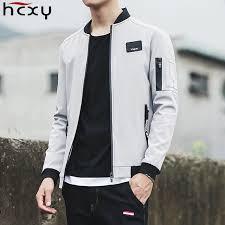 HCXY 2019 New Men Jacket <b>Spring Autumn Fashion</b> Brand Slim Fit ...