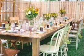 Country Backyard Wedding  DIY And Personal Touches  HandPainted Backyard Wedding Diy