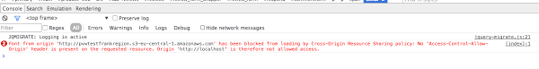 blocked a frame with origin