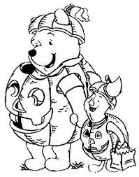 Cute Halloween Coloring Pages For Kids Winnie The Pooh Hallowen