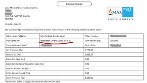 Apollo Munich Optima Restore Premium Chart Pdf 25 Unique Health Insurance Premium Receipt Sample