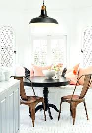rustic breakfast table classy breakfast nook design with black round table and brown chairs using rustic