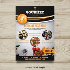 Create Advertising Flyers Restaurant Flyer Vectors Photos And Psd Files Free Download