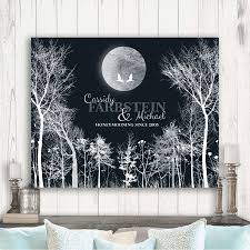 personalized 10 year anniversary gift of tin aluminum honeymoon winter trees for couple ten year wedding anniversary 1st first 2nd 10th gift from husband or