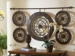 great metal wall decor art best image large kitchen canva circular world time zone clock