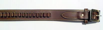 the ultimate western premium full grain leather belt with cartridge loops handmade in the usa