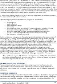 employee handbook pdf a teacher is deemed to have accepted a fourth consecutive school year contract if