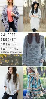 Free Crochet Sweater Patterns Beauteous 48 Super Easy Free Crochet Sweater Patterns Make Do Crew