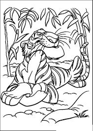 Tiger Jungle Coloring Pages Coloringsuitecom