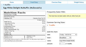 is mcdonalds breakfast healthy egg white delight mcin