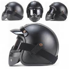 senarai harga ahp removable handmade vintage harley helmet leather motorcycle electric car 3 4 helmet with mask free terkini di malaysia