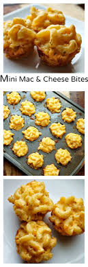 Mini Macaroni and Cheese Bites. Bbq PartyDinner ...