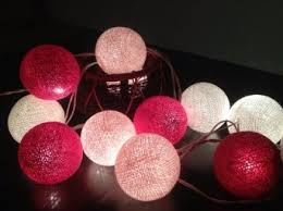 ball fairy lights. get quotations · my fairy lights cotton ball string 20 pink tone wedding hanging party s