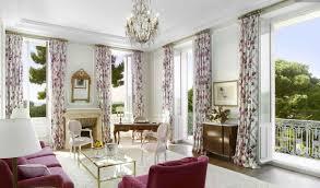 pretty pink white living room