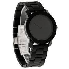 movado men s watches sears movado bold mens black finish link bracelet dress watch 3600047