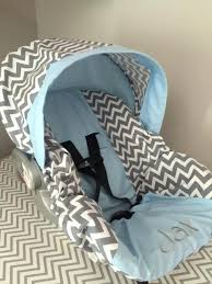 custom baby car seat gray chevron sky blue baby infant car seat cover custom made baby