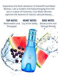 <b>Davidoff Cool Water Woman</b> Eau de Toilette Spray 100ml ...
