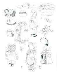 Paper Dolls Coloring Pages Cat Paper Doll Coloring Page