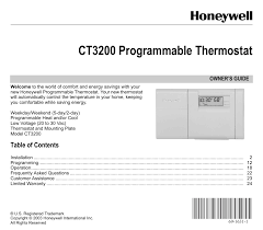 Honeywell Thermostat Cross Reference Chart Honeywell Thermostat Honeywell Programmable Thermostat