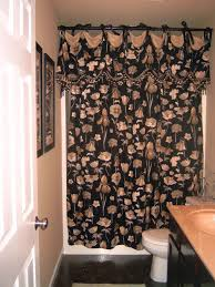 ... Good Looking Ideas For Designer Shower Curtains With Valance In  Bathroom Interior : Contemporary Black Metal