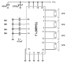 quad amplifier 40w circuit wiring diagrams 40w 4 channel audio amplifier