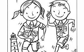 Scouting Kleurplaat Welpen Welpen Scouting Sint Jozef Kleurplatenlcom