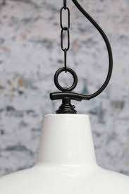 warehouse style lighting. industrial warehouse pendant light with white shade and black chain suspension cord style lighting