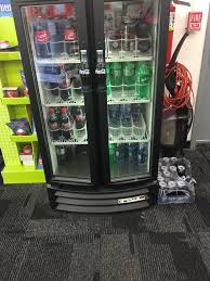 Staples Vending Machine Stunning Empty Beverage Cooler Yelp