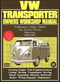 vw transporter repair manual 1954 1967
