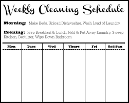 printable house cleaning checklist weekly list for maid pdf