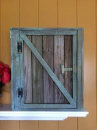 barnwood cabinet doors. old reclaimed wood barn door wall cabinet with wainscoting back and 2 shelves. barnwood from doors