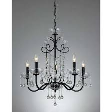 donna 5 light black indoor crystal chandelier with shade