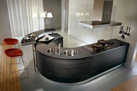 creative kitchen design. Creative Modern Kitchen Rounded Countertops Design
