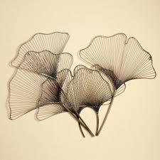 leaf wall decor metal sculptures ginkgo breeze sculpture multi the has a  sleek contemporary design that