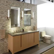 elegant kohler santa rosa in bathroom contemporary with kohler laminar tub spout next to bathroom display alongside brushed bronze and kohler purist faucet