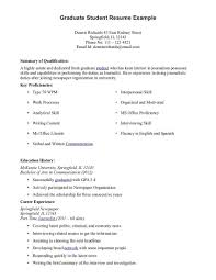 Graduate Student Curriculum Vitae Sample Science Cv Template In ...