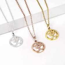 om yoga necklace in solid silver