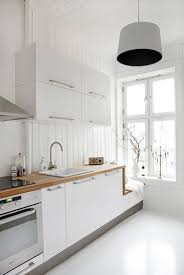 Stylish White Scandinavian Kitchen Design