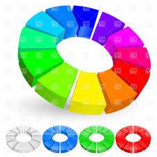 Rainbow Pie Chart D Rainbow Pie Chart Vector Clipart Sarahgardan