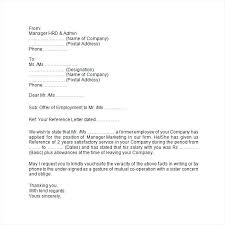 Letter Verification Of Employment Employment Verification Letter For Former Employee Techsentinel Co