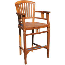 chic teak furniture. Teak Orleans Bar Stool With Arms - Chic Furniture H
