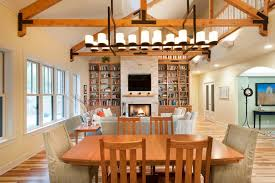 image of linear chandelier dining room type