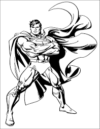 Small Picture Superman Coloring Pages