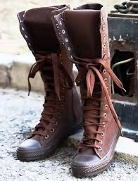 converse knee high boots. women lace up high top canvas boots. knee converseblack converse boots